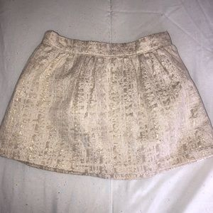 Gold/white Oshkosh little Girls Skirt